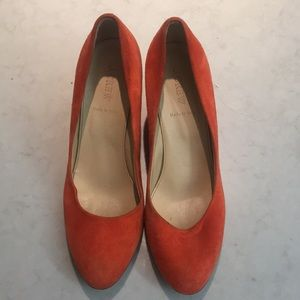 J Crew orange heels - made in Italy